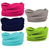 Oureamod Wide Headbands for Men and Women Athletic Moisture Wicking Headwear for Sports,Workout,Yoga Multi Function (Multi Color)