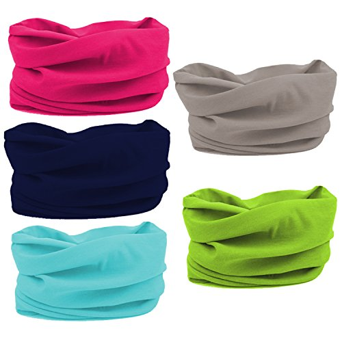 Oureamod Wide Headbands for Men and Women Athletic Moisture Wicking Headwear for Sports,Workout,Yoga Multi Function (Multi - Wicking Moisture Headband