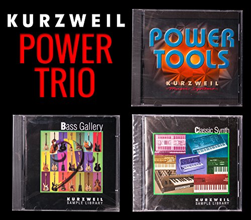 Kurzweil Power Trio: Sound Library Bundle Includes: Bass Gallery, Classic Synth and Power Tools Sound Libraries by Alto Bundle