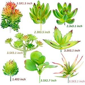 Augshy 24 Pack Artificial Succulent Plants Unpotted Mini Fake Succulents Plant for Lotus Landscape Decorative Garden Arrangement Decor 3