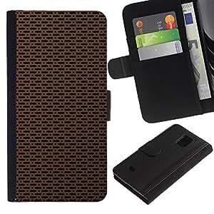 All Phone Most Case / Oferta Especial Cáscara Funda de cuero Monedero Cubierta de proteccion Caso / Wallet Case for Samsung Galaxy S5 Mini, SM-G800 // Texture Simple