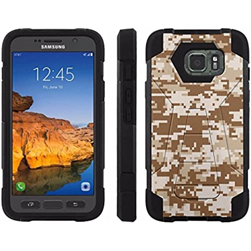 AT&T [Galaxy S7 Active] ShockProof Case [ArmorXtreme] [Black/Black] Hybrid Defender [Kickstand] - [Desert Storm Camo] for Samsung Galaxy [S7 Active] Sales