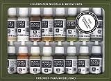 Vallejo Earthtone Colors Paint Set, 17ml