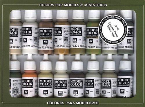 Vallejo Earthtone Colors Paint Set, (Earthtone Paint)