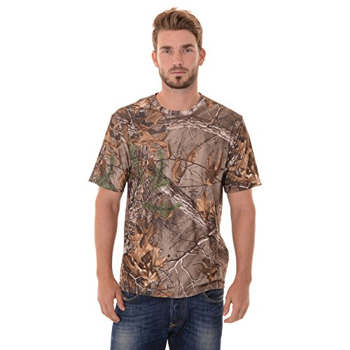 Realtree Men's Short Sleeve Performance T-Shirt, Large, Realtree Xtra