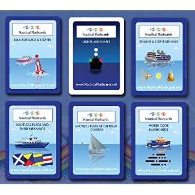 Nautical Flashcards Educational Flashcards About Boating & Sailing Terminology | Nautical Flags, Morse Code, Lights, Shapes: Sports & Outdoors