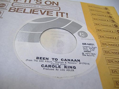 Carole King 45 RPM Been to Canaan / Bitter With the Sweet (R Ods)