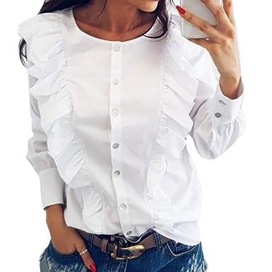 Blusas con olanes de moda 2