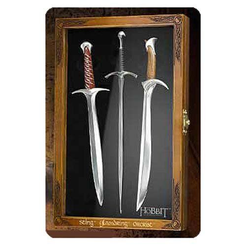 The Hobbit Trilogy Sword Replica Letter Opener Set (Sting The Sword And The S)
