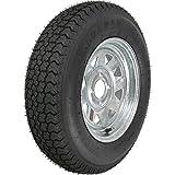 2-Pk Trailer Tire Rim ST175/80D13 13'' Load C 4 Lug Galvanized Spoke