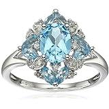 Women Fashion Aquamarine Gemstone 925 Sterling Silver Wedding Ring Jewelry New#by pimchanok shop (9)