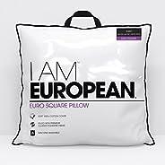 I AM I Am European Pillow, White
