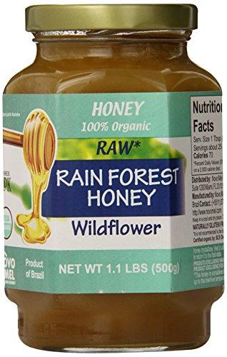 - Novo Mel Brazilian Rainforest Raw Organic Honey, 17.6 Ounce, Pack of 1
