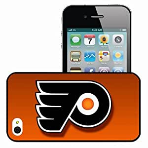 Personalized iPhone 4 4S Cell phone Case/Cover Skin 15209 Philadelphia Flyers by quackeration Black