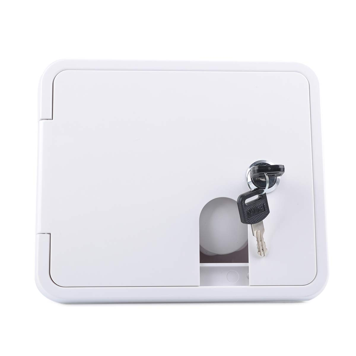 1-1//4 Tower Connector MHSZZAO White Gravity City Water Inlet Integrated Fill Dish Hatch Lock for RV Trailer Camper Back of 1//2