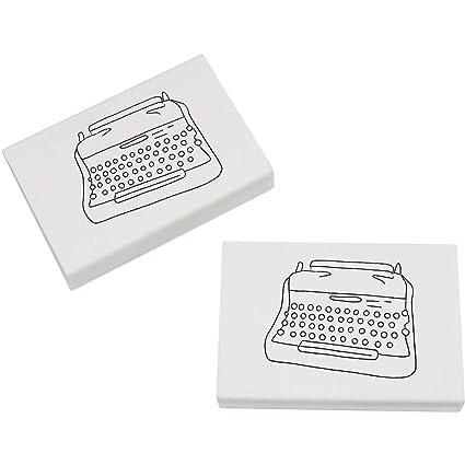 Azeeda 2 x 45mm Máquina de Escribir Goma de Borrar (ER00020285)