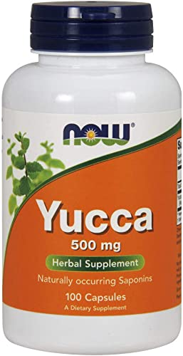 NOW Supplements, Yucca Yucca spp. 500 mg, 4 1 Concentrate, Herbal Supplement, 100 Capsules