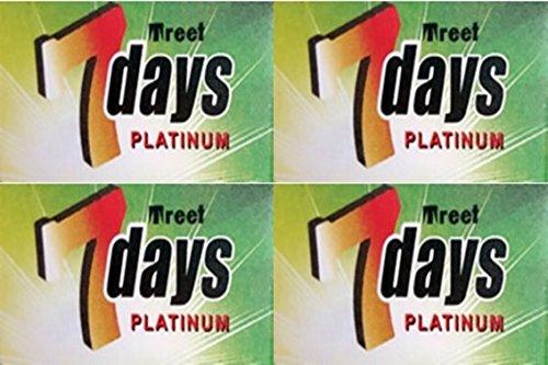 20 Treet 7 Days Platinum Double Edge Razor Blades