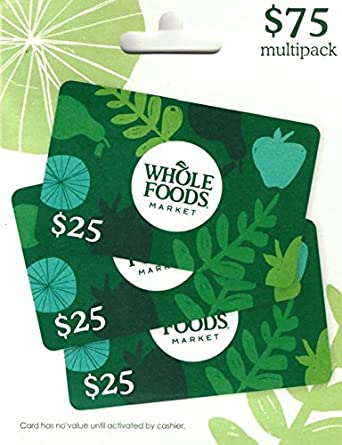 Amazon.com: Whole Foods Market Gift Cards, Multipack of 3 - $25 ...