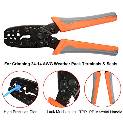 Weather Pack Crimper Tools For Crimping Delphi Packard Weather Pack Terminals Or Metri-Pack Connectors (Crimping Tool Packard)
