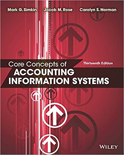 Core concepts of accounting information systems 13th edition 13 core concepts of accounting information systems 13th edition 13 mark g simkin carolyn s norman jacob m rose ebook amazon fandeluxe Image collections