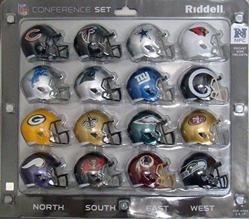 - Riddell NFL NFC Helmet Pocket ProNFC Conference Set Pocket Pro Speed Style, Team Colors, One Size