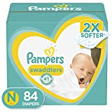 Diapers Size Newborn 4.5 kg - Pampers Swaddlers Disposable Baby Diapers, 84 Count, Super Pack (Packaging May Vary)