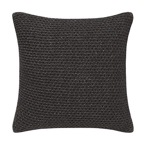 Vera Wang Heather Knit Throw Pillow, 20x20, Charcoal