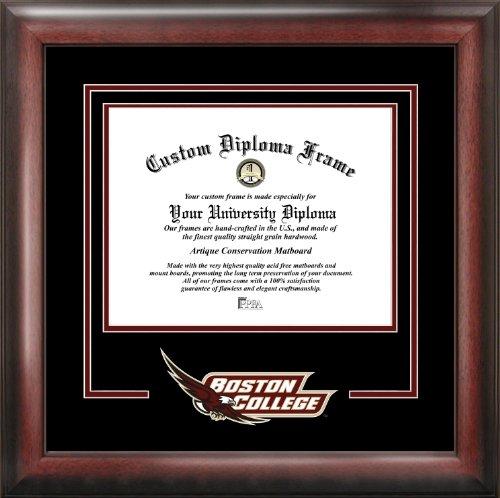 Boston College Diploma Frame - NCAA Boston College Eagles Spirit Diploma Frame, 12.8 x 15.8, Mahogany