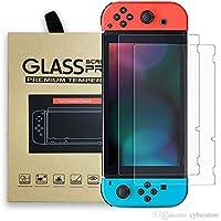 NETONBOX.COM 2 Pack Mica Cristal Templado para Nintendo Switch Vidrio Templado 9H 0.33 mm Grosor 2 Piezas Compatible con Nintendo Switch