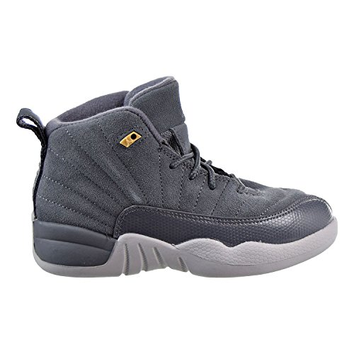 Jordan 12 Retro (BP) Little Kids Shoes Dark Grey/Dark Grey/Wolf Grey 151186-005 (1.5 M US) (Shoes Little Kids Jordan)