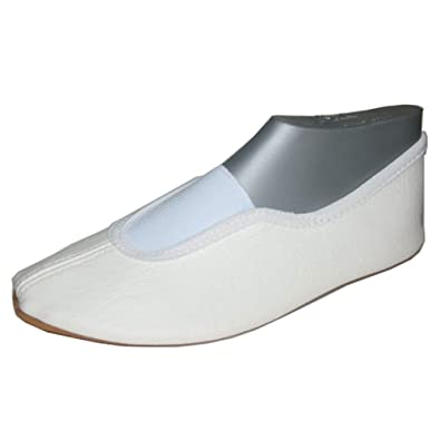 Beck Basic weiss, schwarz 025 - Zapatillas de gimnasia de tela unisex, color blanco, talla 33