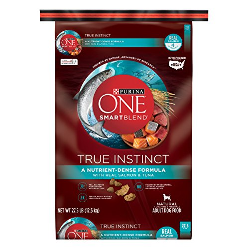 Purina ONE High Protein Natural Dry Dog Food, SmartBlend True Instinct With Real Salmon & Tuna - 27.5 lb. Bag (Purina One Grain Free Dog Food)