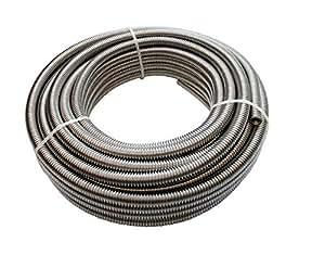 MBM 'Tubo flexible Agua rollo de 10mt. 1/2inoxidable uniroll, solo tubo.