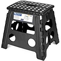Delxo Folding Step Stool - 13 inch Height Premium Heavy Duty Foldable Stool for Adults, Kitchen Garden Bathroom Stepping…