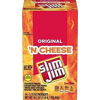 Slim Jim Cheese Original, 1.15 Oz (Pack Of 14)