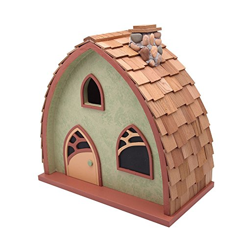 Home Bazaar Cheshire Cottage Birdhouse, (Chickadee Garden Stone)