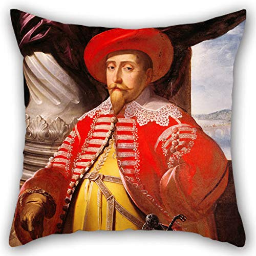 The Oil Painting Matthaeus Merian The Elder - Gustavus Adolphus Of Sweden (1594-1632) Throw Pillow Covers Of 18 X 18 Inches / 45 By 45 Cm Decoration Gift For Home Theater Dining Room Bar Birthday (Dance Christmas Carol Just)