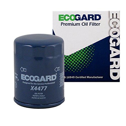 ECOGARD X4477 Spin-On Engine Oil Filter for Conventional Oil - Premium Replacement Fits Toyota Camry, RAV4, Highlander, Solara, Celica, Matrix, Corolla, MR2/Scion tC, xB/Suzuki SX4, (1988 Toyota Mr2 Engine)