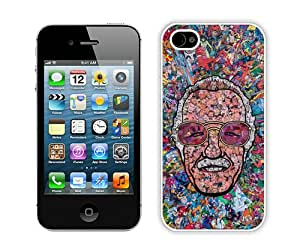 Stan Lee Collage White iPhone 4 4S Case,personalized design together with Excellent protection