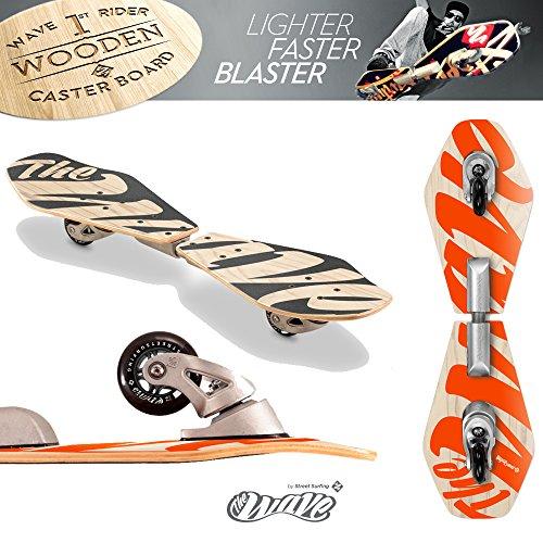 Street Surfing 2-Wheeled Wave Board Rider Abstrakt Wooden Deck. Lightweight Skateboards with...