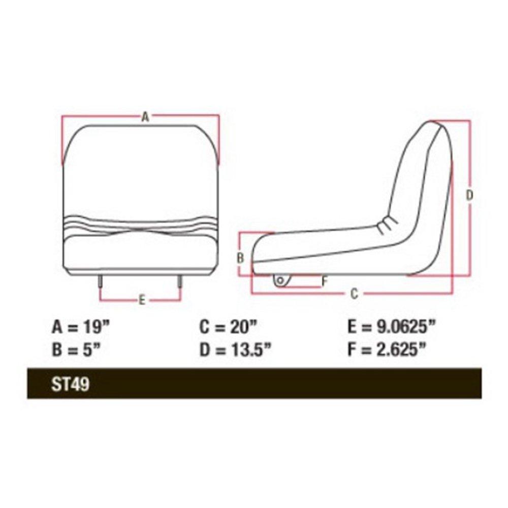 AM115813 Yellow High Back Seat For John Deere LX188 LX186 LX178 LX176 on