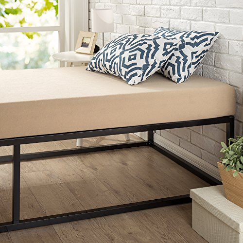 "Zinus Joesph Modern Studio 14 Inch Platforma Bed Frame / Mattress Foundation in Narrow Twin / Cot size / 30"" x 74.5"" / Box Spring Optional / Wood Slat Support"