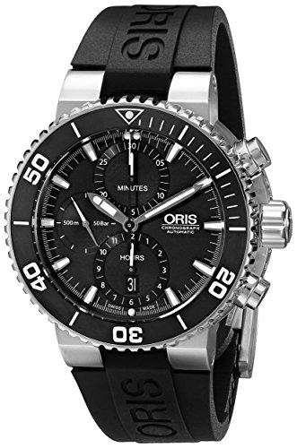 Oris-Mens-77476554154RS-Aquis-Analog-Display-Swiss-Automatic-Black-Watch