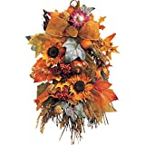 Harvest Sunflower Floral Wall Swag Decoration