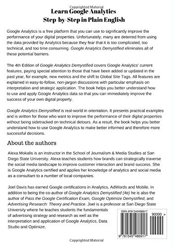 Google Analytics Demystified (4th Edition): Amazon.es: Alexa L. Mokalis, Joel J. Davis: Libros en idiomas extranjeros