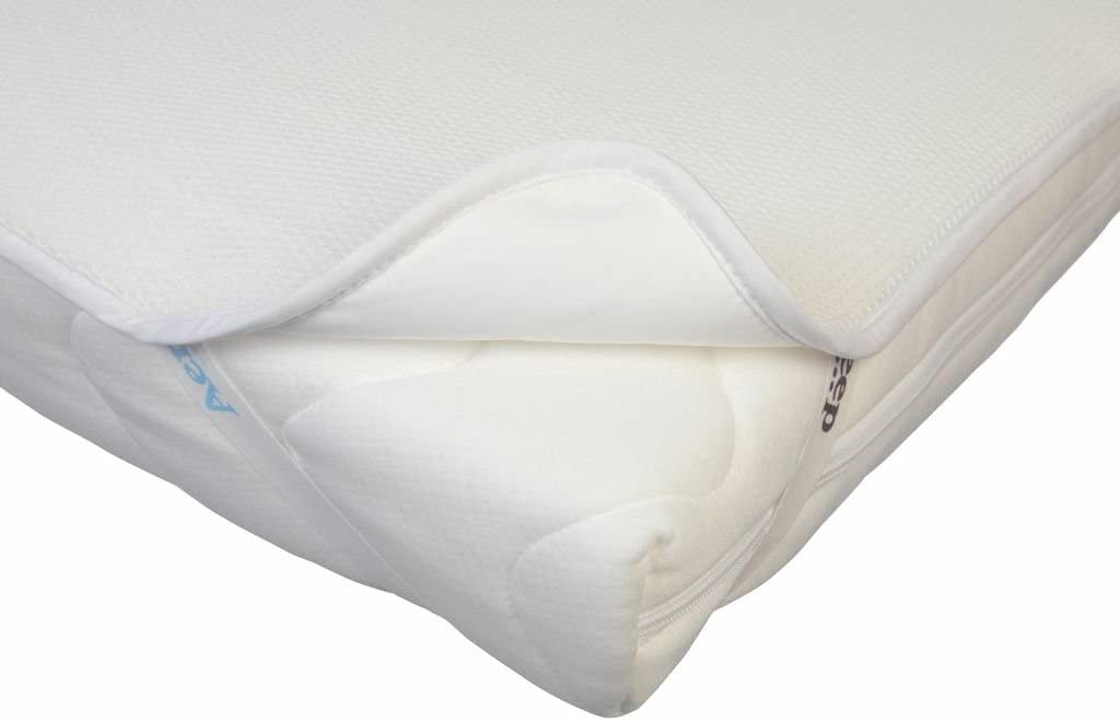 74 x 58cm 3D honeycomb structure Sleep Safe Mattress Protector White Ensures your baby can breathe freely AEROSLEEP