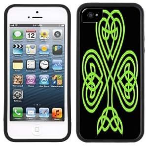 Celtic Shamrock Handmade iPhone 5 Black Bumper Plastic Case