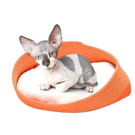 Funihut cesto Redondo o Oval en Polar para Perro pequeño o Gato de Nido de Animal