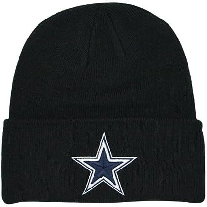 Amazon Com Dallas Cowboys Basic Knit Hat Black Knit Caps